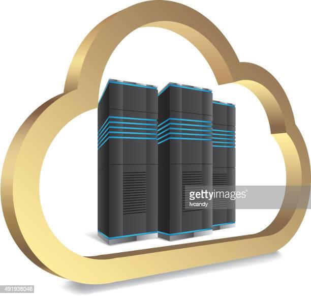 cloud computing server - accessibility stock illustrations, clip art, cartoons, & icons