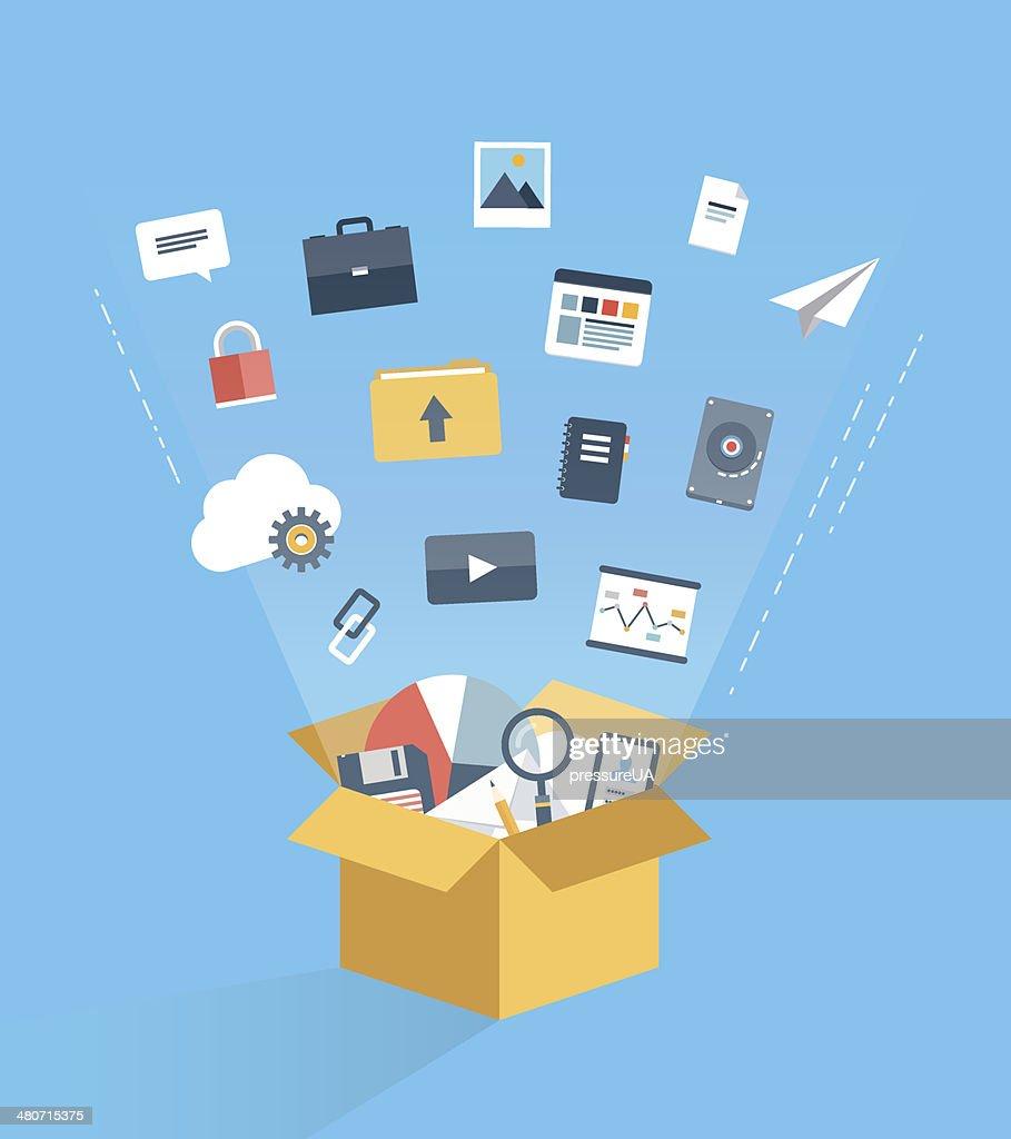 Cloud computing service concept illustration