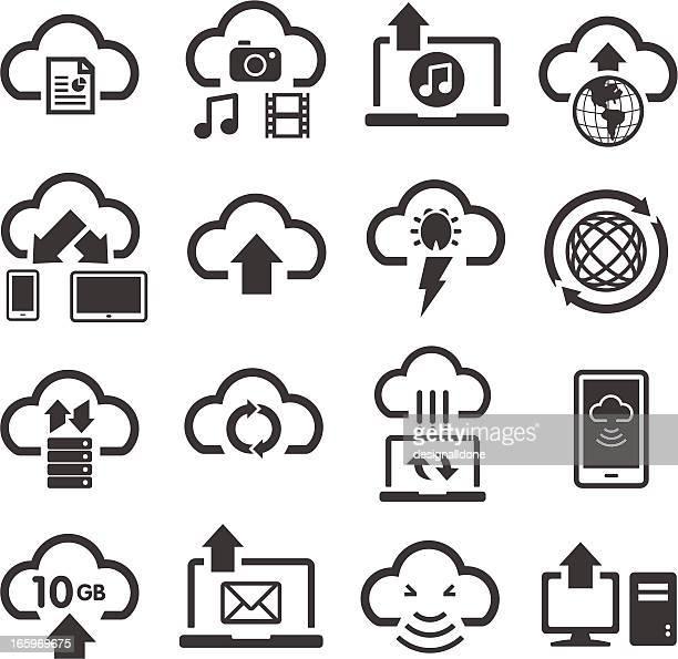 クラウドコンピューティング&保存アイコン - ワールド・ワイド・ウェブ点のイラスト素材/クリップアート素材/マンガ素材/アイコン素材
