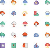 Cloud Computing Vector Icons 4