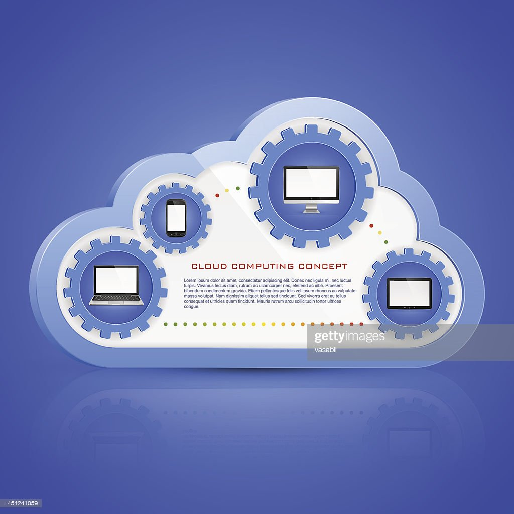 Cloud computing : Vector Art