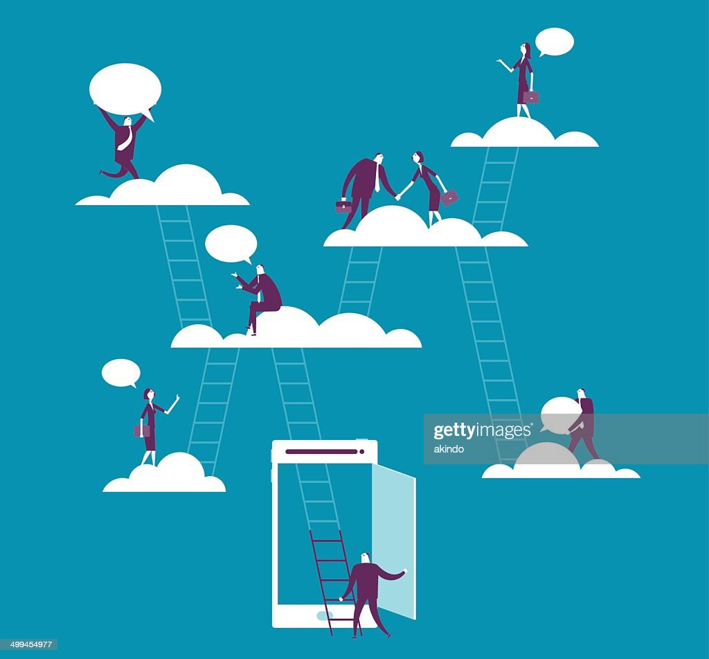 Cloud computing : stock illustration
