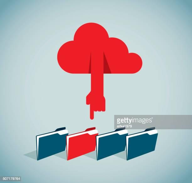 cloud computing - card file stock illustrations, clip art, cartoons, & icons