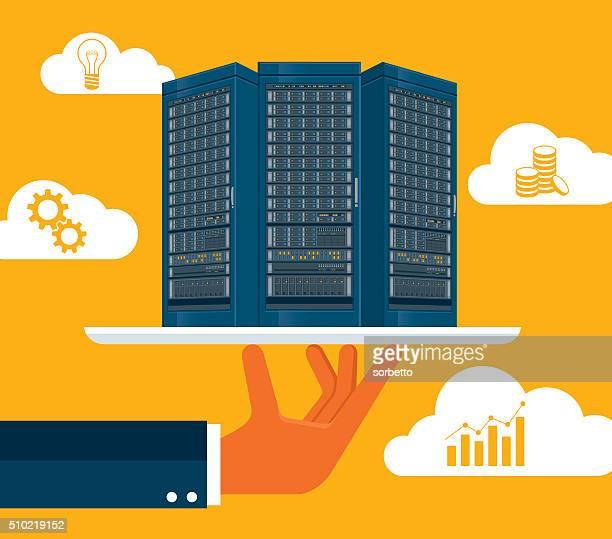 cloud computing - filing documents stock illustrations, clip art, cartoons, & icons