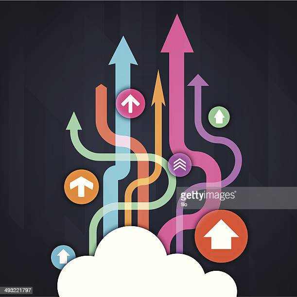 cloud data - transfer image stock illustrations