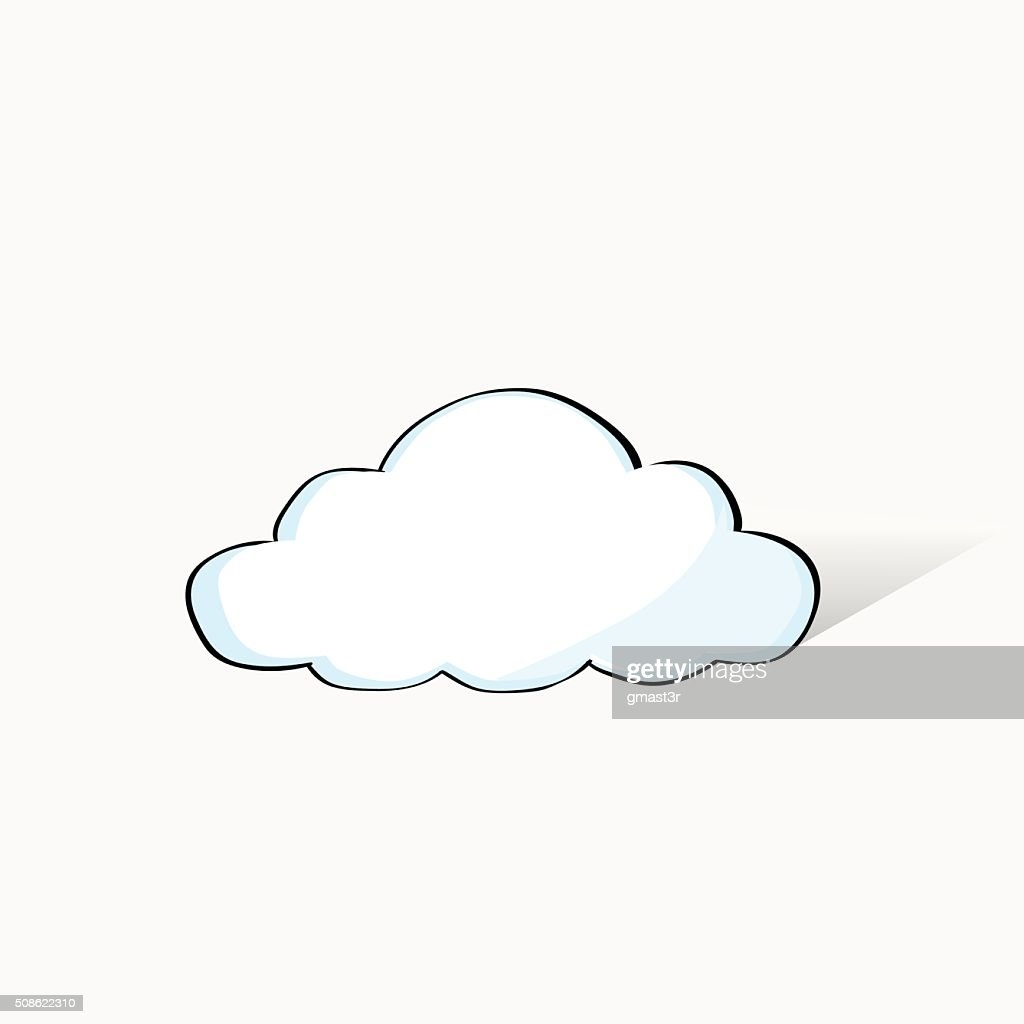 Cloud Doodle Hand Draw Sketch Concept Technology Internet Data Information : Vector Art