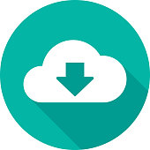 Cloud Download Icon Silhouette 2