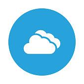 cloud glyph flat circle icon