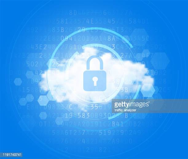 cloud - hightech-hintergrund - cloud computing stock-grafiken, -clipart, -cartoons und -symbole
