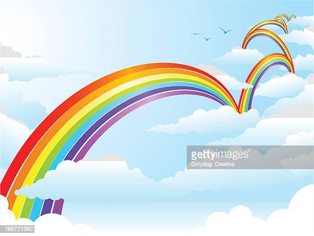 Cloud Hopping Rainbow