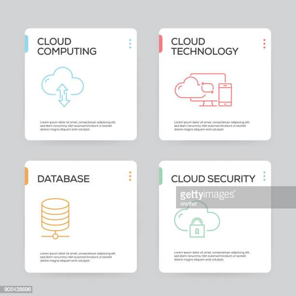 Cloud Hosting Infographic Design Template