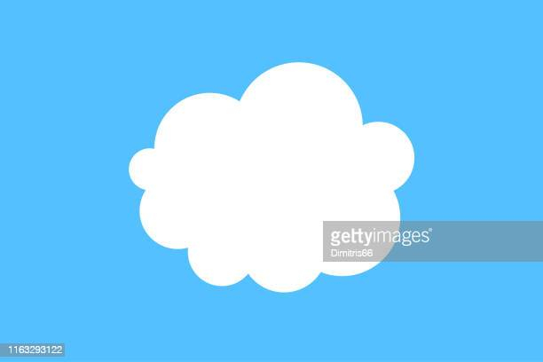 cloud icon - ethereal stock illustrations, clip art, cartoons, & icons