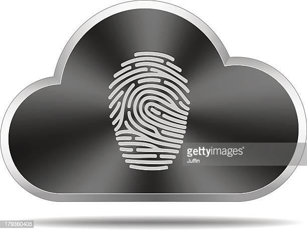 Cloud icon (fingerprint)