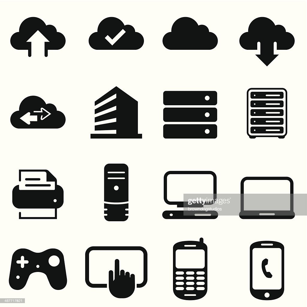 Cloud Icons - Black Series