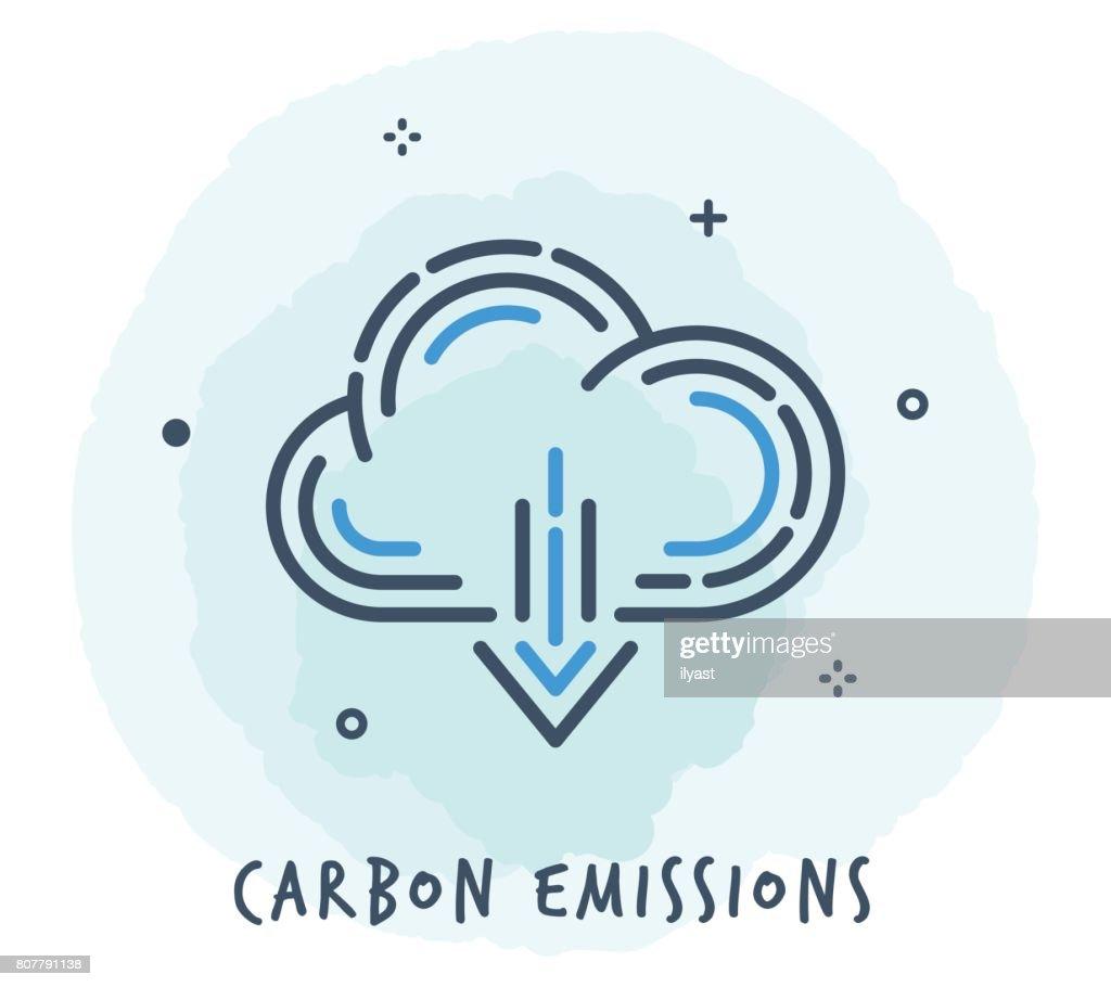 Cloud Line Icon : stock illustration