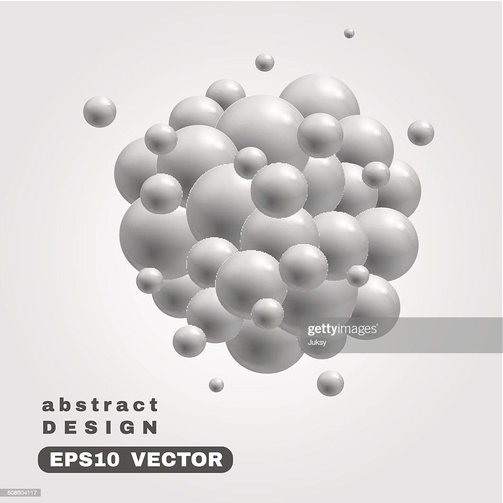 Cloud hecho de burbujas de fondo : Arte vectorial