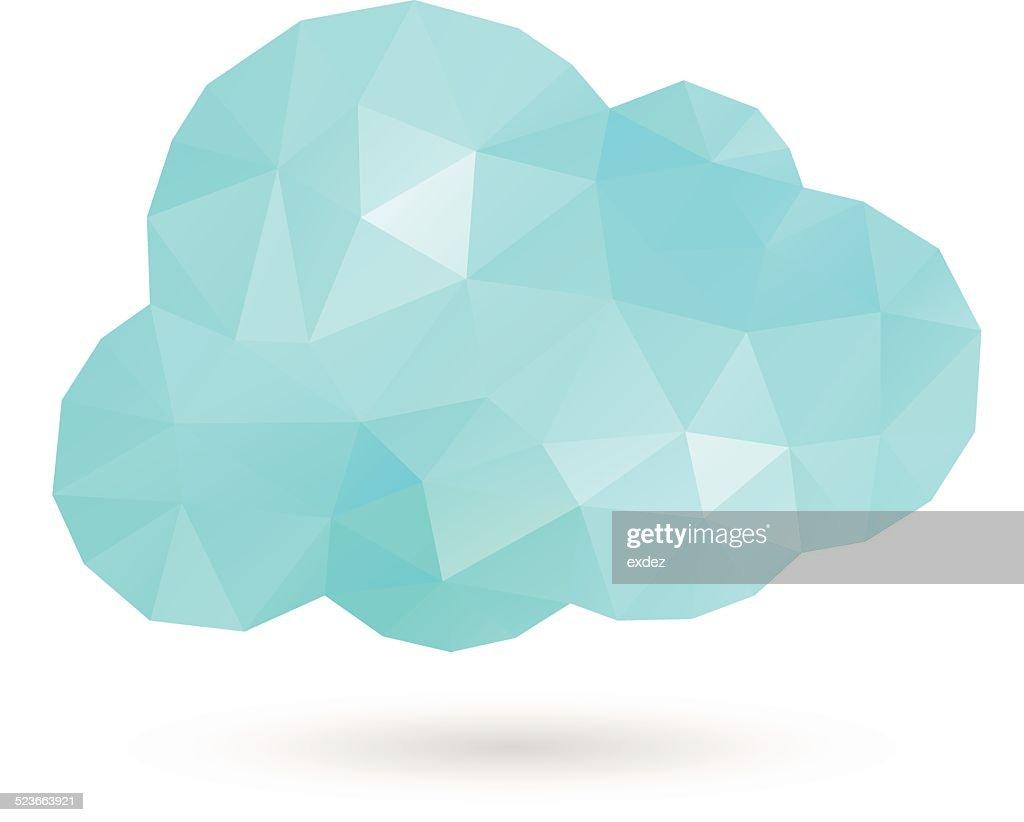 Cloud Polygon : stock illustration