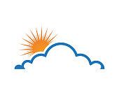 Cloud servers data logo and symbols icons