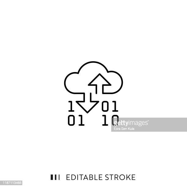 cloud service icon with editable stroke and pixel perfect. - cloud computing stock illustrations