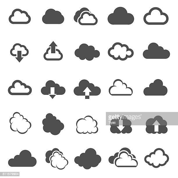 cloud shapes - illustration - cloudscape stock illustrations, clip art, cartoons, & icons