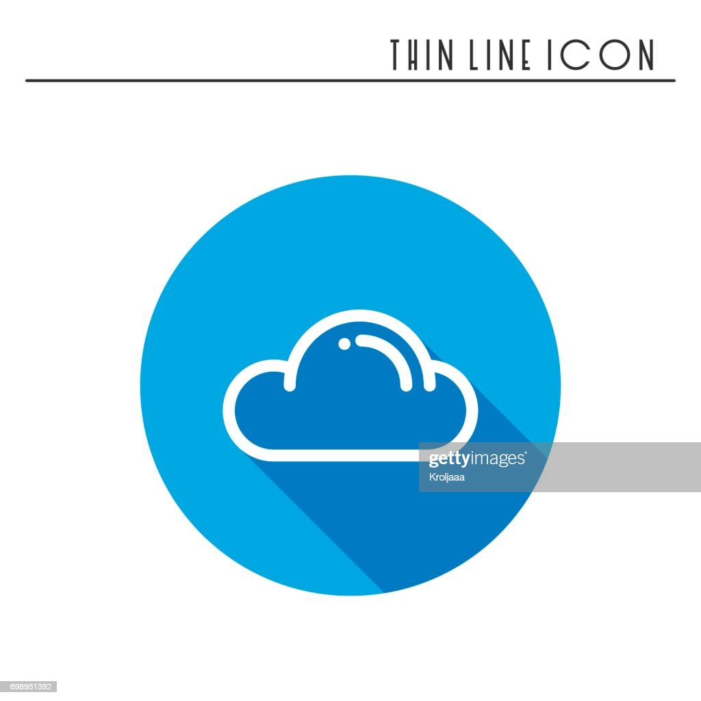 Cloud Sky Heaven Line Simple Icon Weather Symbols