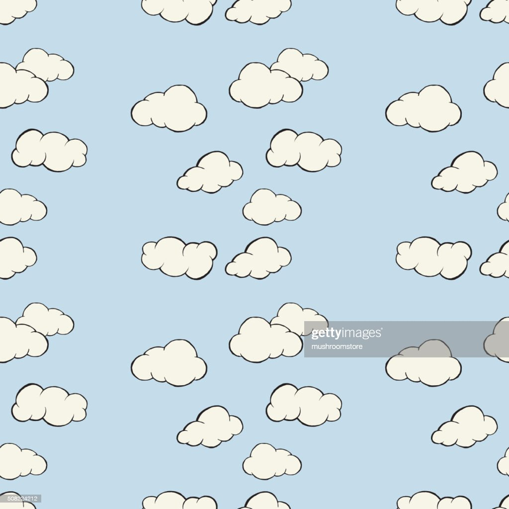Cloud sky seamless pattern.