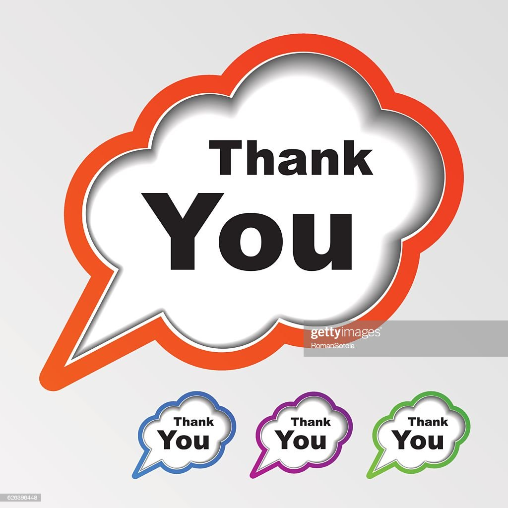 cloud speech bubbles thank you