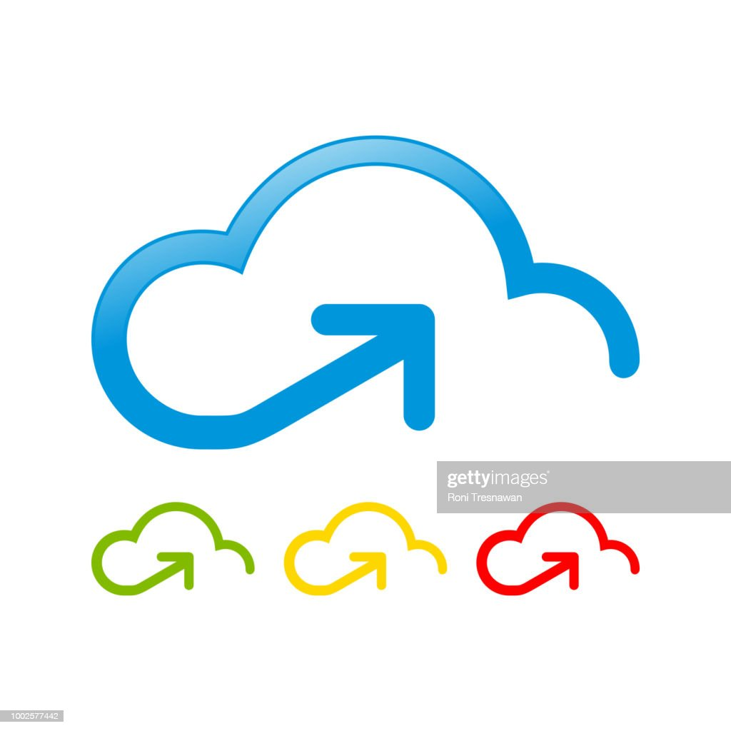 Cloud Storage Upstream Send Access Symbol Design