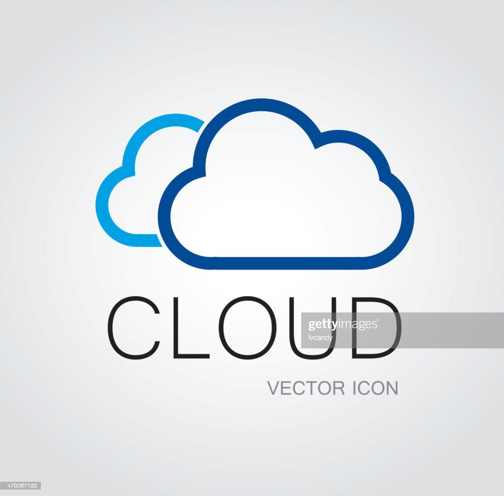 Cloud symbol : stock illustration