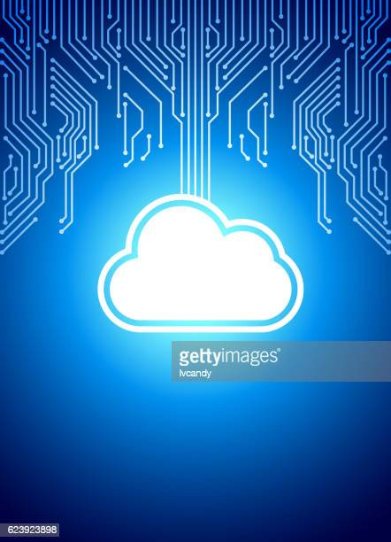 Cloud technology background