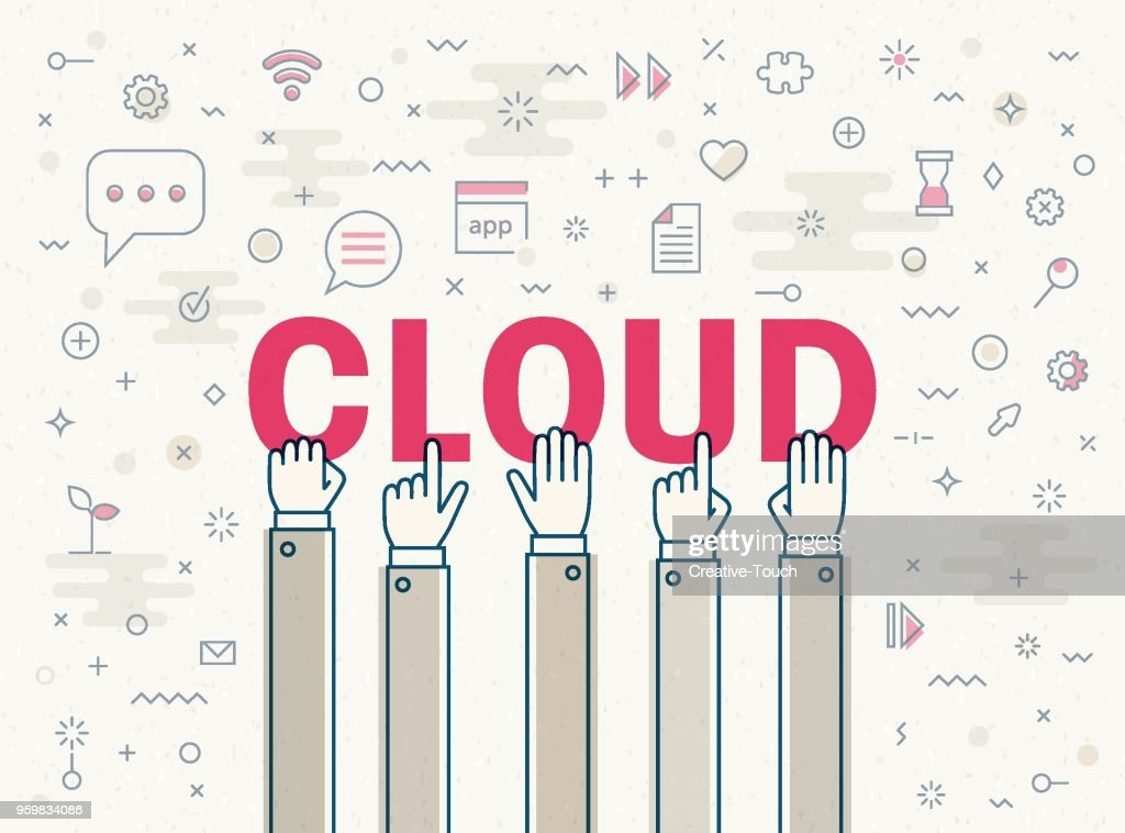 Cloud  : Stock-Illustration
