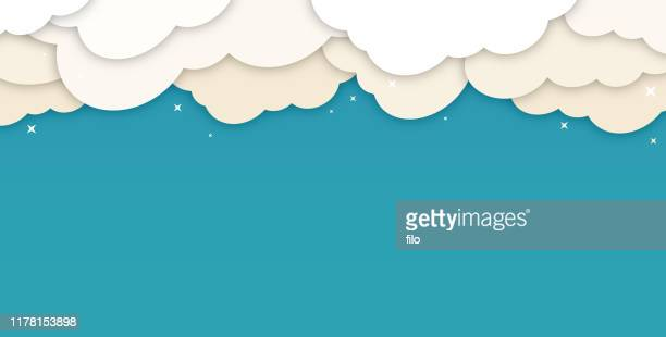 clouds cloudscape background - cloud sky stock illustrations
