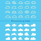 Clouds collection - Set of clouds icons