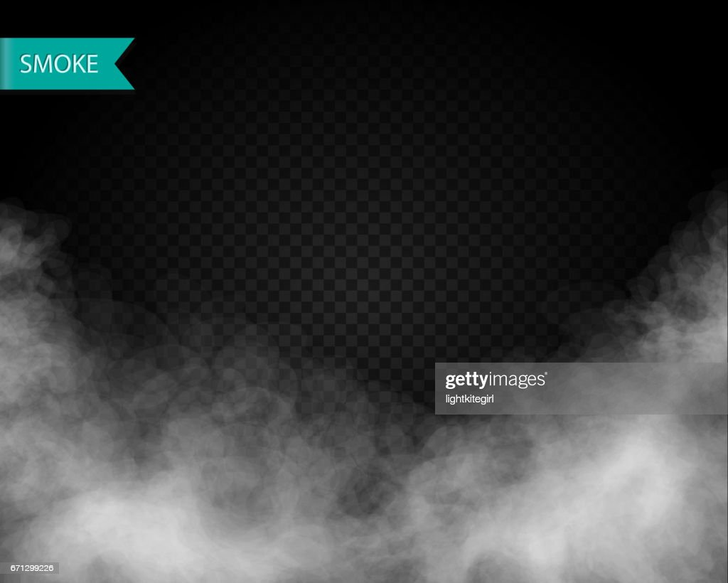Clouds or smoke vector on transparent background