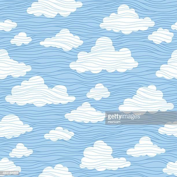 雲シームレスなパターン