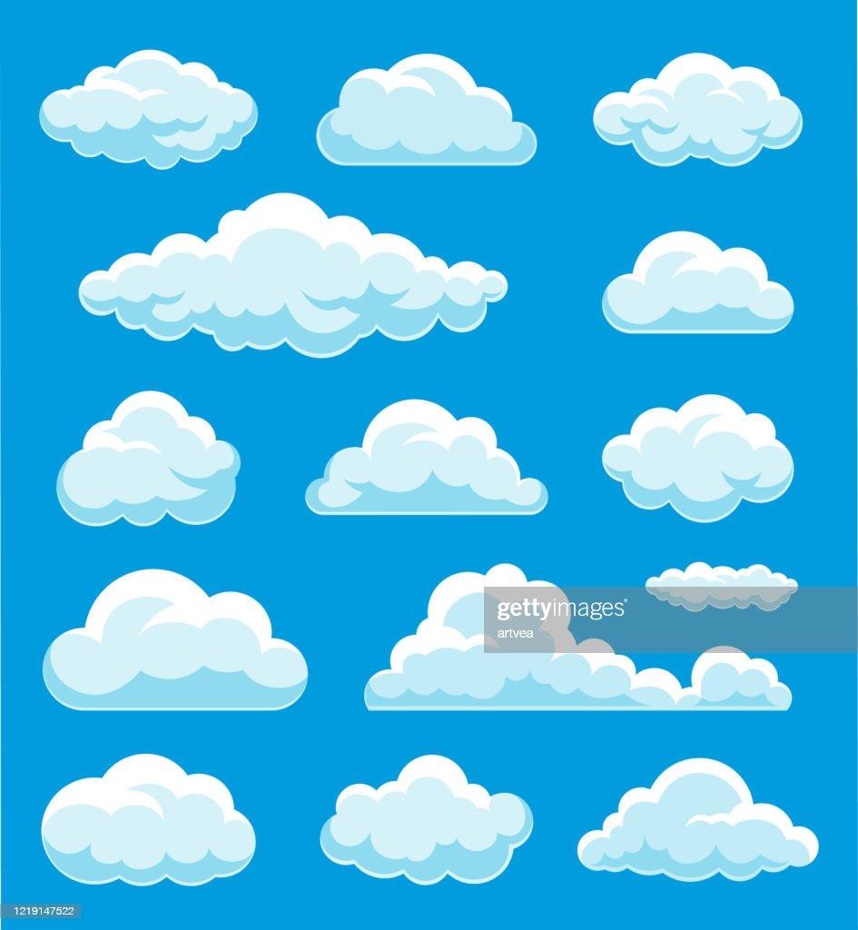 Illustrazione set di nuvole : Illustrazione stock