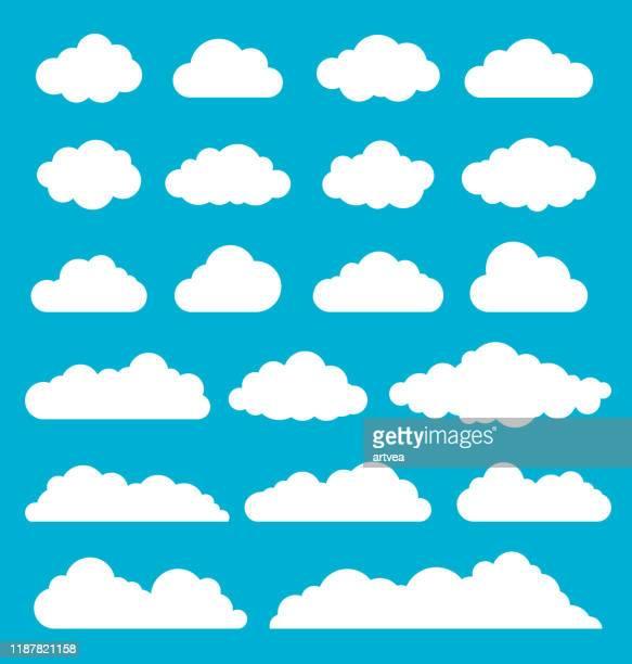 雲セット - 雲点のイラスト素材/クリップアート素材/マンガ素材/アイコン素材
