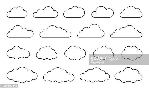 雲セット - ベクトルストックコレクション - 雲点のイラスト素材/クリップアート素材/マンガ素材/アイコン素材