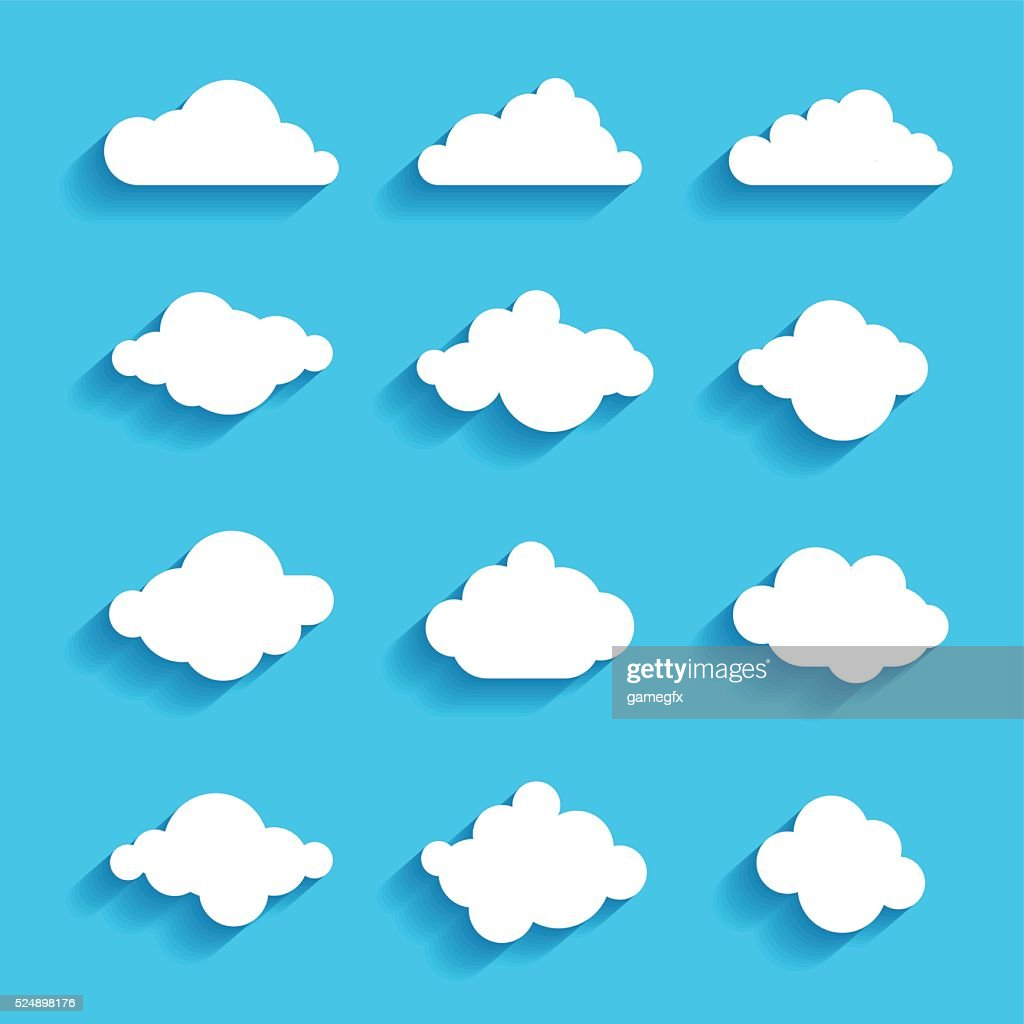 clouds sky heaven icon symbol label logo sign