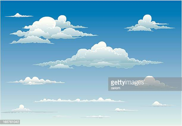 clouds - overcast stock illustrations, clip art, cartoons, & icons