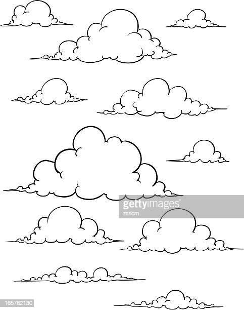 illustrazioni stock, clip art, cartoni animati e icone di tendenza di nuvole - nebbia