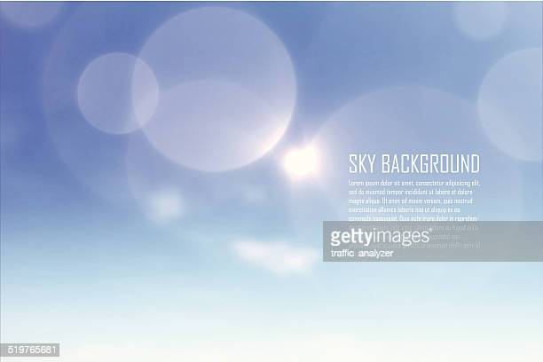 clouds - lens flare stock illustrations