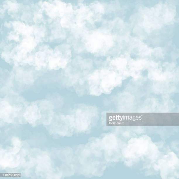 ilustrações, clipart, desenhos animados e ícones de nuvens com fundo azul. bebê chuveiro convite cartões de fundo, berçário sala de papel de parede - nublado