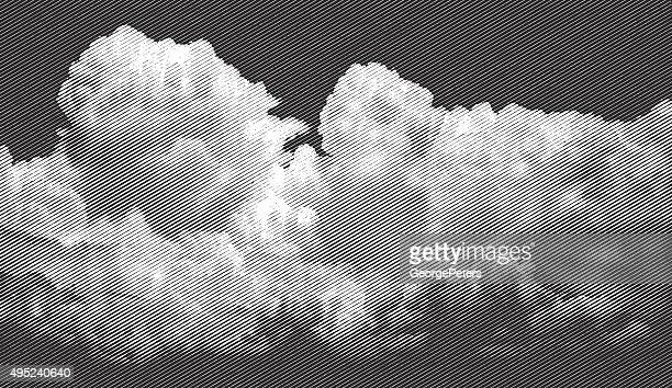 cloudscape, approaching storm - overcast stock illustrations, clip art, cartoons, & icons