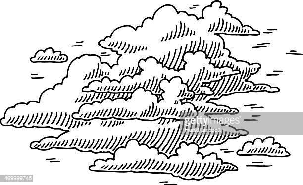 Wolkengebilde Himmel malen
