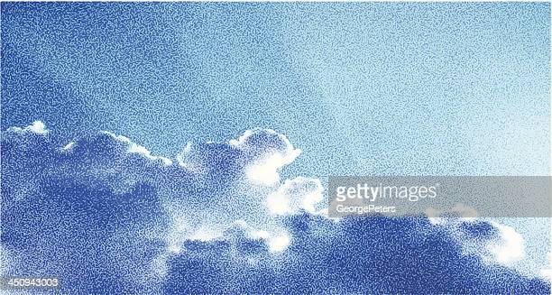 cloudscape stipple - stipple effect stock illustrations