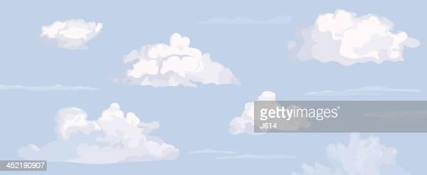 雲模様 - 雲点のイラスト素材/クリップアート素材/マンガ素材/アイコン素材