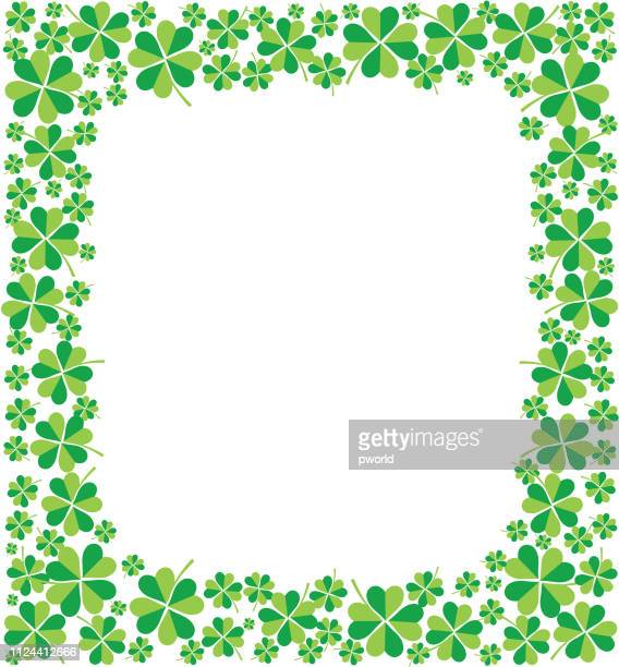 clover frame . - day stock illustrations, clip art, cartoons, & icons