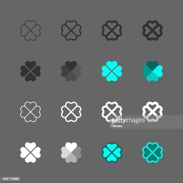 クローバー リーフのアイコン - マルチ シリーズ - クローバー点のイラスト素材/クリップアート素材/マンガ素材/アイコン素材