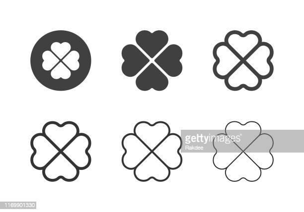 クローバーリーフアイコン - マルチシリーズ - クローバー点のイラスト素材/クリップアート素材/マンガ素材/アイコン素材